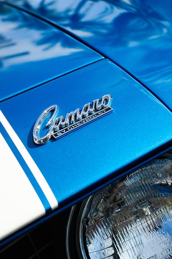 Chevy Emblem Photograph - Chevrolet Camaro Emblem by Jill Reger