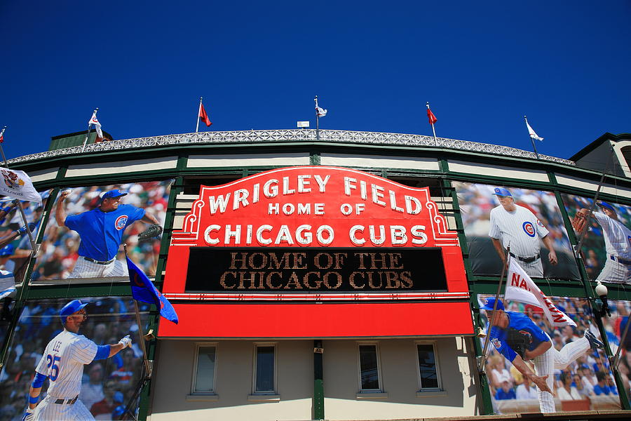 Addison Photograph - Chicago Cubs - Wrigley Field by Frank Romeo