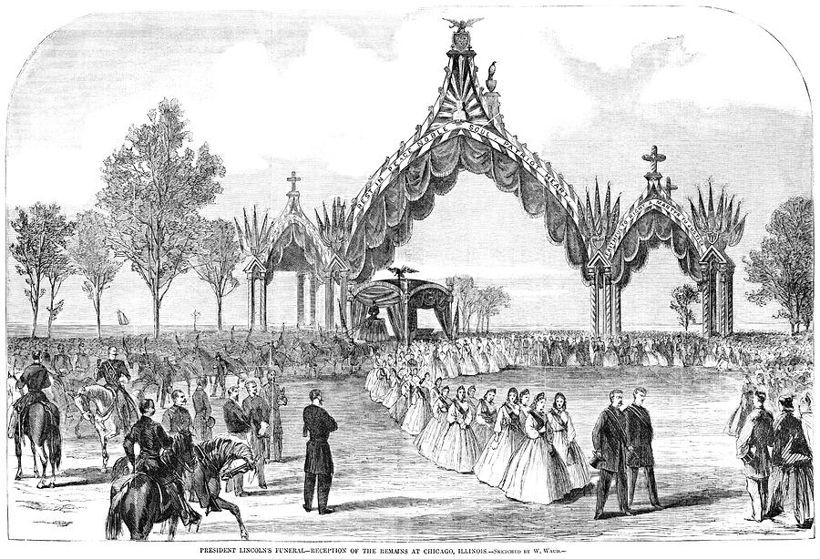 1865 Drawing - Chicago Lincoln Funeral by Granger