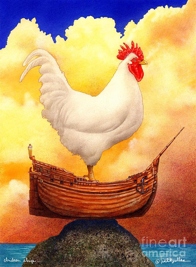 Will Bullas Painting - Chicken Ship... by Will Bullas