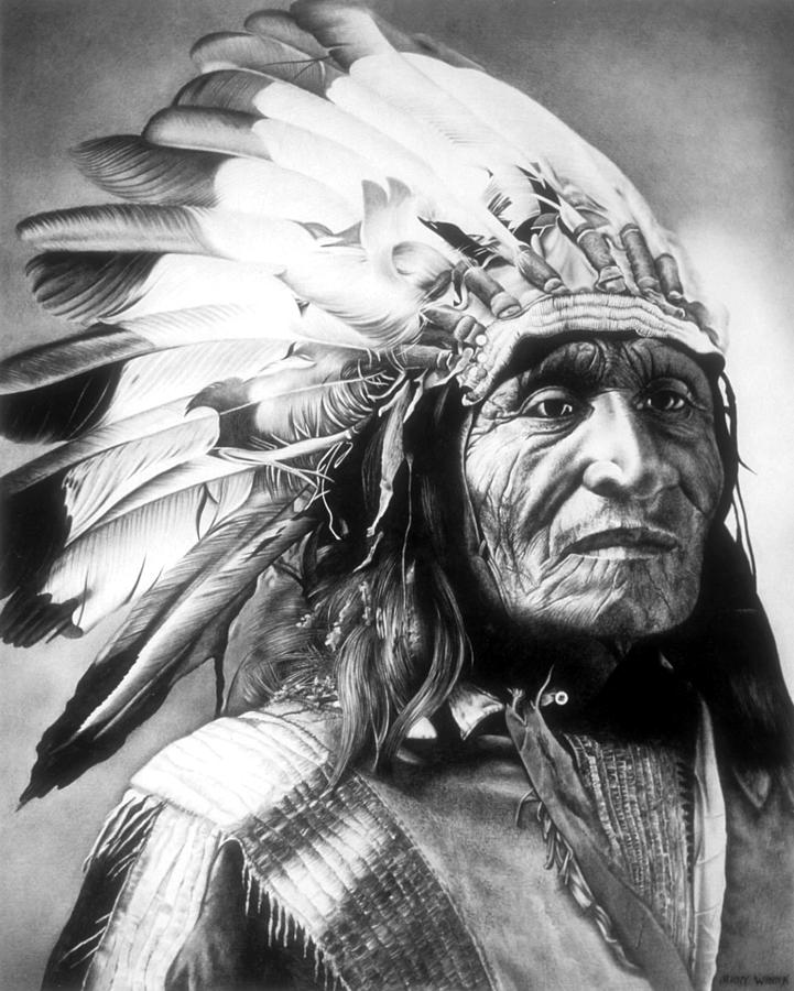chief drawing by jerry winick