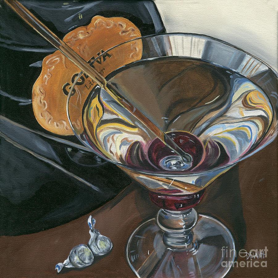 Martini Painting - Chocolate Martini by Debbie DeWitt