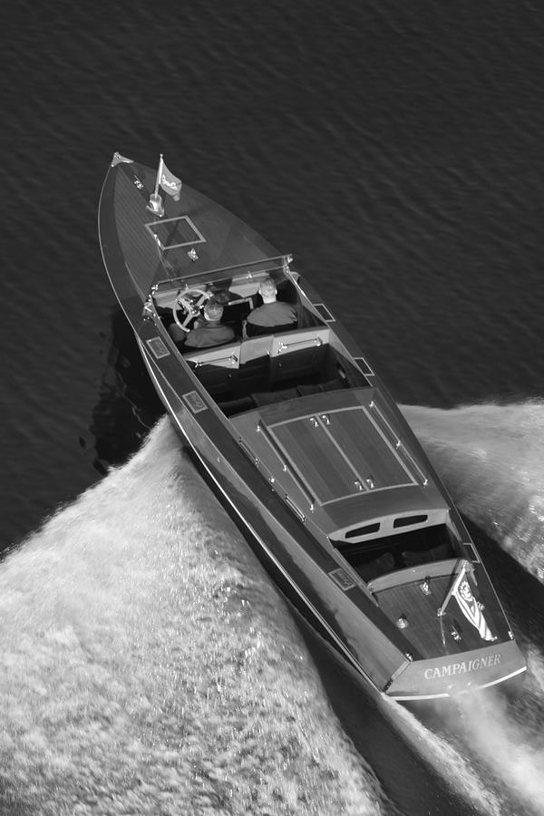 Chris Craft Aerial Photograph by Steven Lapkin