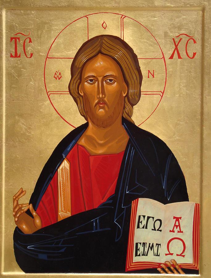 Icon Painting - Christ Pantocrator by Joseph Malham