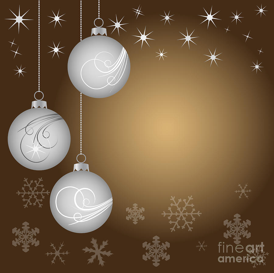 Vector Digital Art - Christmas Background by Michal Boubin