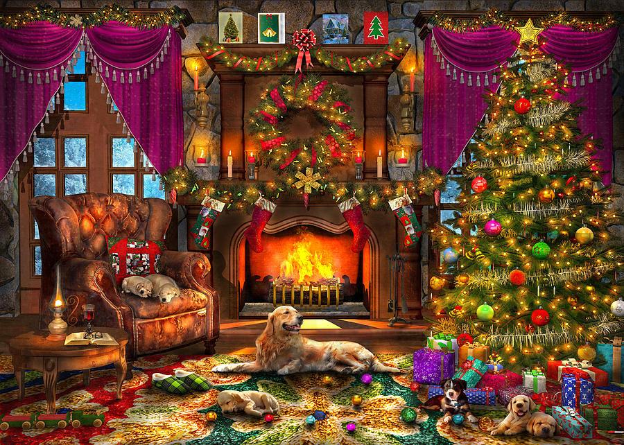 Christmas Puppies.Christmas Puppies