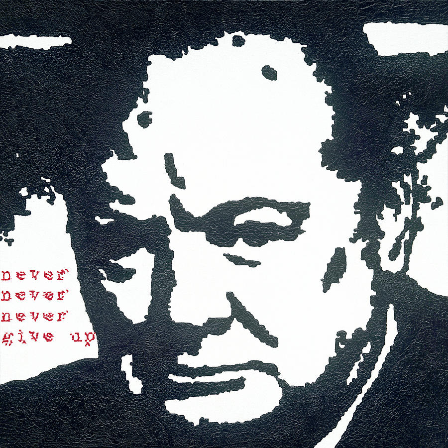 Great Britain Painting - Churchill by Barry Novis