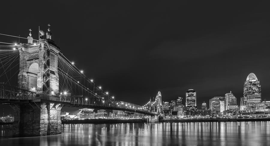 Cincinnati Photograph - Cincinnati Skyline At Night by Dick Wood