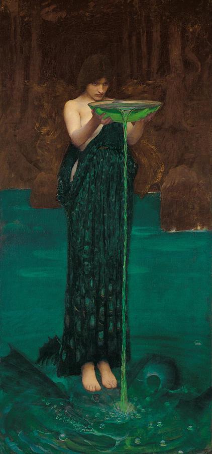 John William Waterhouse Painting - Circe Invidiosa by John William Waterhouse