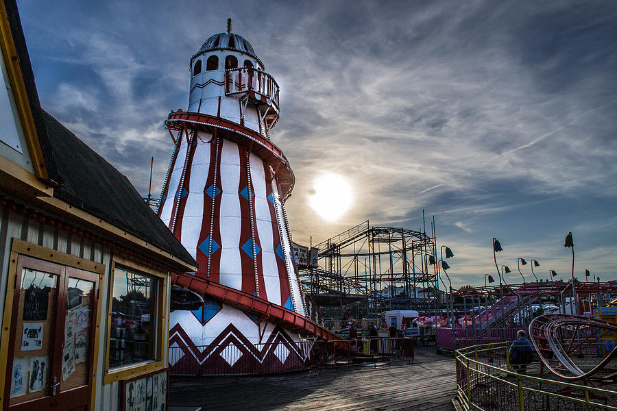 Fun Fair Photograph - Clacton Pier by Andrew Lalchan
