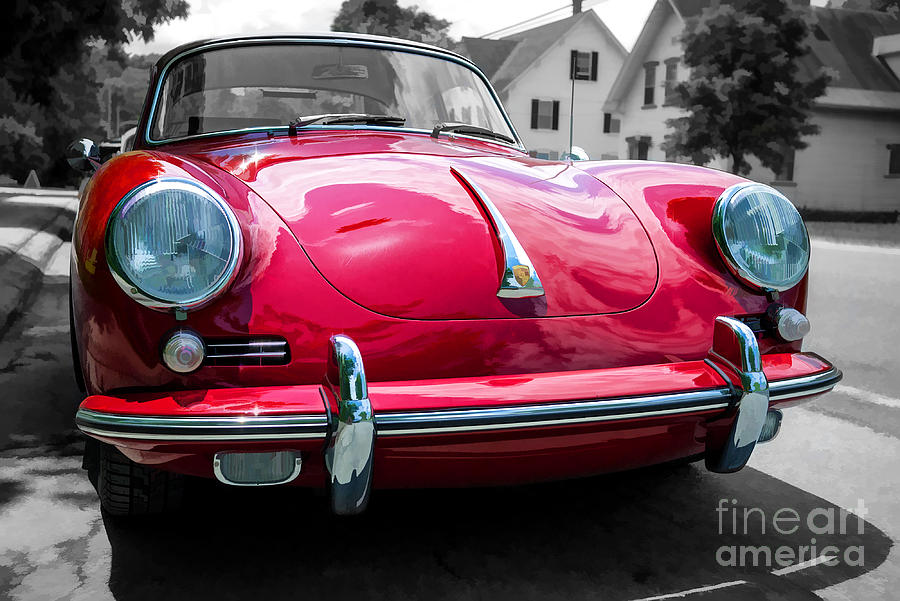 Porsche Photograph - Classic Red P Sports Car by Edward Fielding