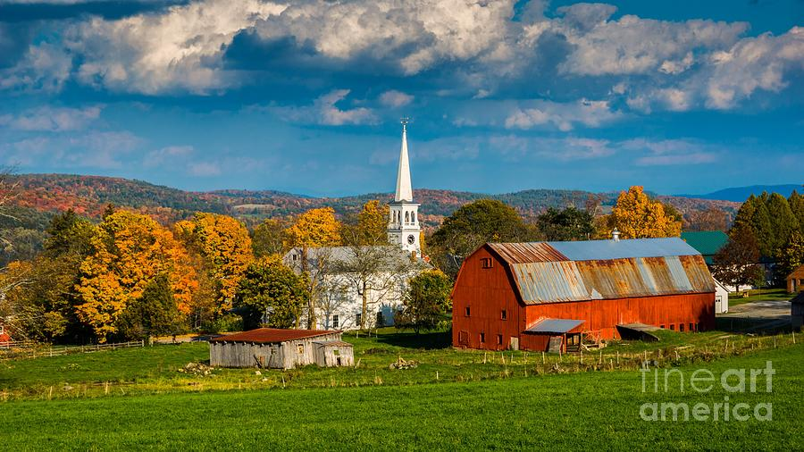 Classic Vermont Foliage. Photograph By New England Photography