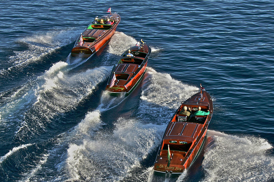 Chris-craft Photograph - Classic Wooden Runabouts by Steven Lapkin