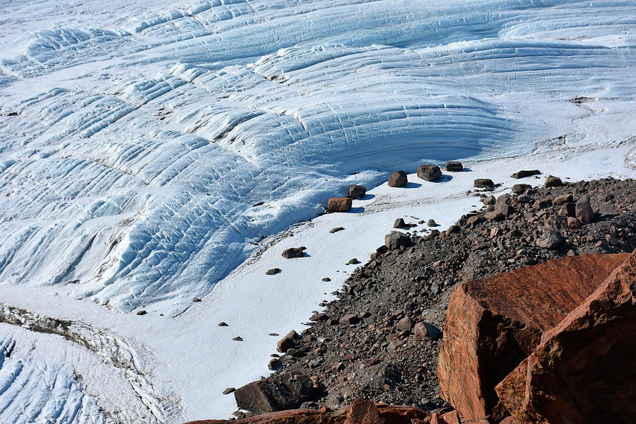 Nobody Photograph - Cliffs And Sea Ice by Hencoup Enterprises Ltd/science Photo Library