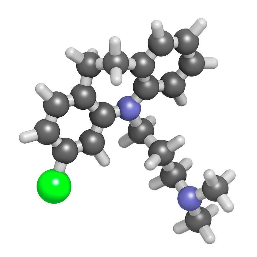 Tricyclic Photograph - Clomipramine Tricyclic Antidepressant by Molekuul