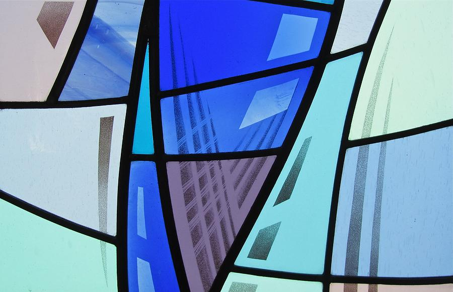 Stained Glass Glass Art - Coal Harbour Triptych Part 2 by Gilroy Stained Glass