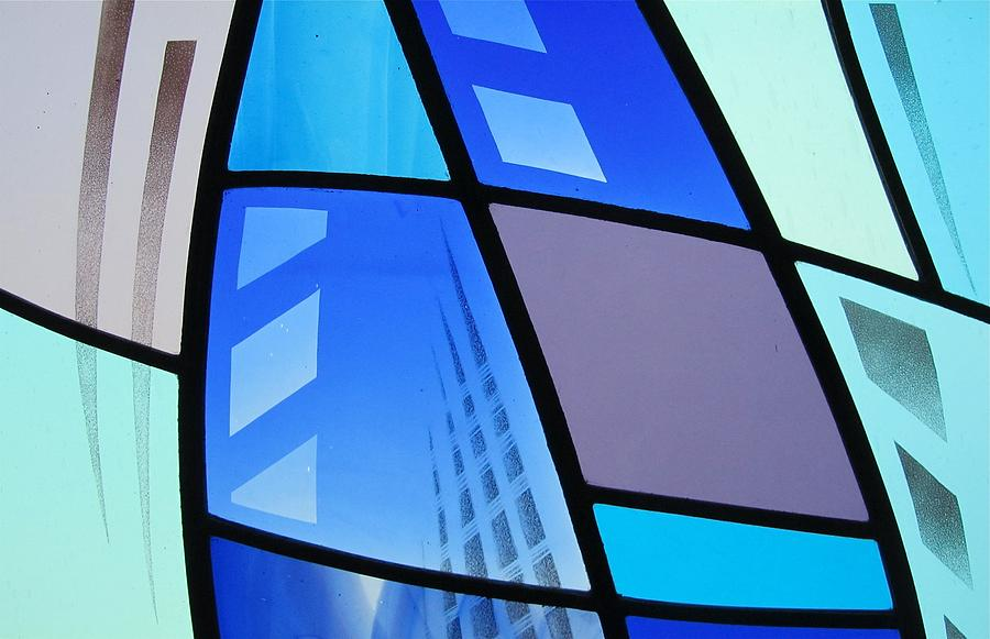 Stained Glass Glass Art - Coal Harbour Triptych Part 3 by Gilroy Stained Glass