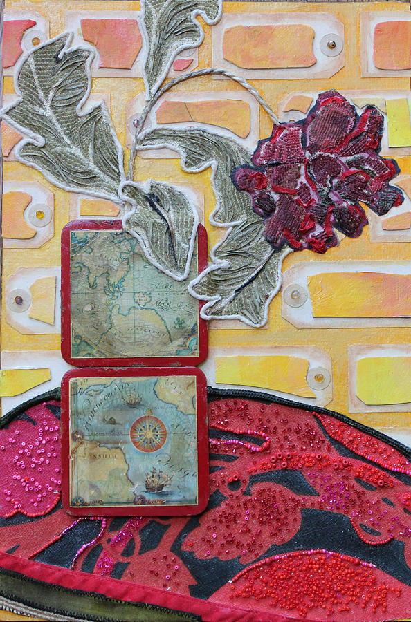 Flower In A Vase Mixed Media - Coasters by Diane Fine