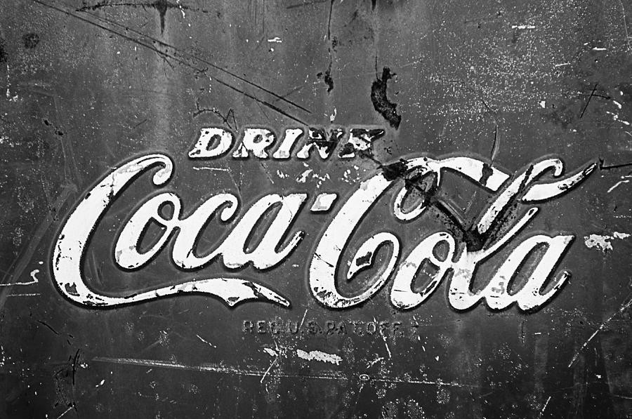Bw Photograph - Coca-cola Sign by Jill Reger