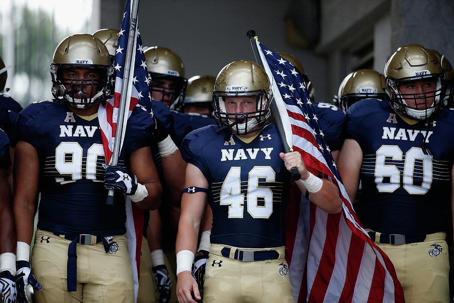 Colgate V Navy Photograph by Rob Carr