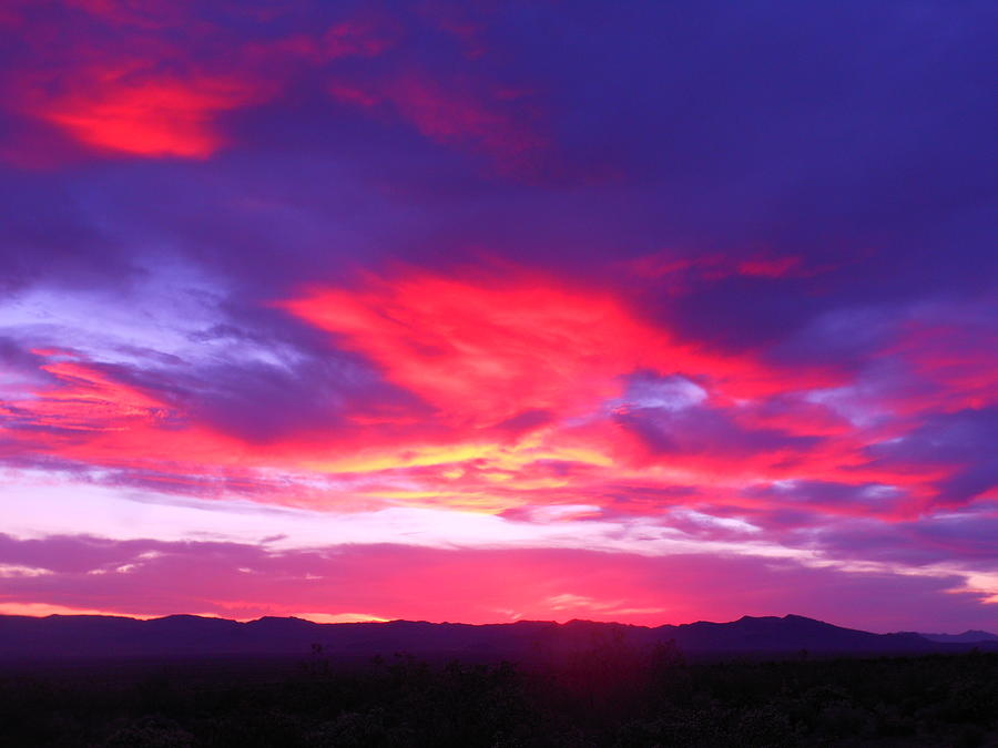 Landscape Photograph - Colourful Arizona Sunset by James Welch