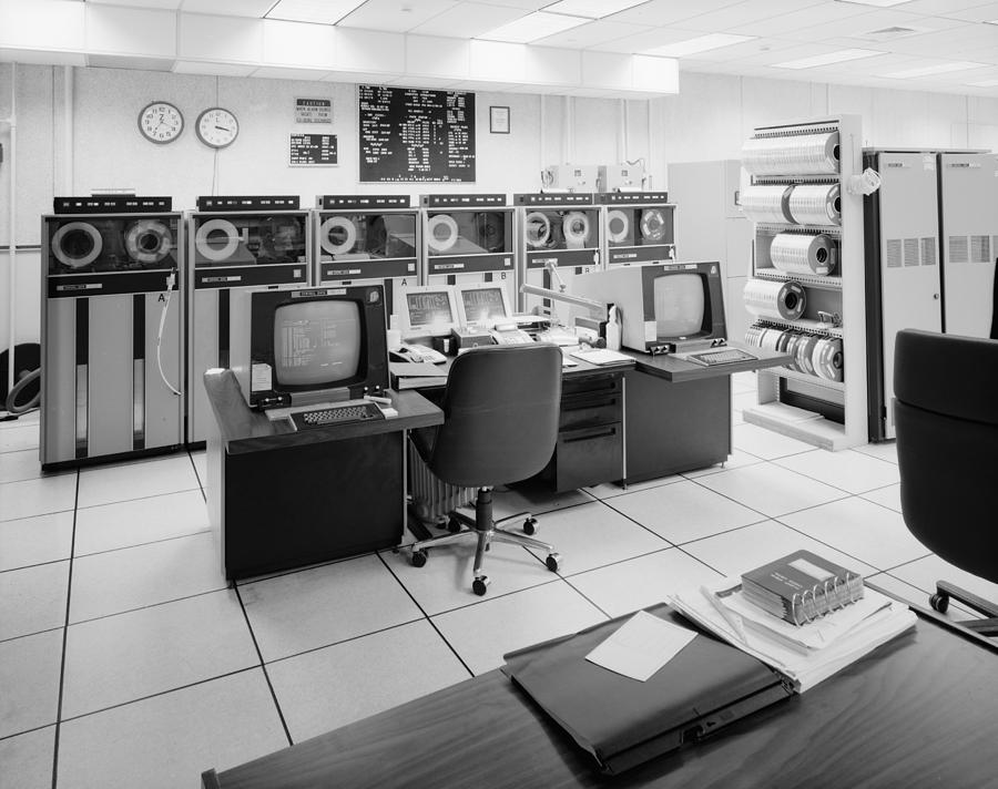 1999 Photograph - Computer Room, 1999 by Granger
