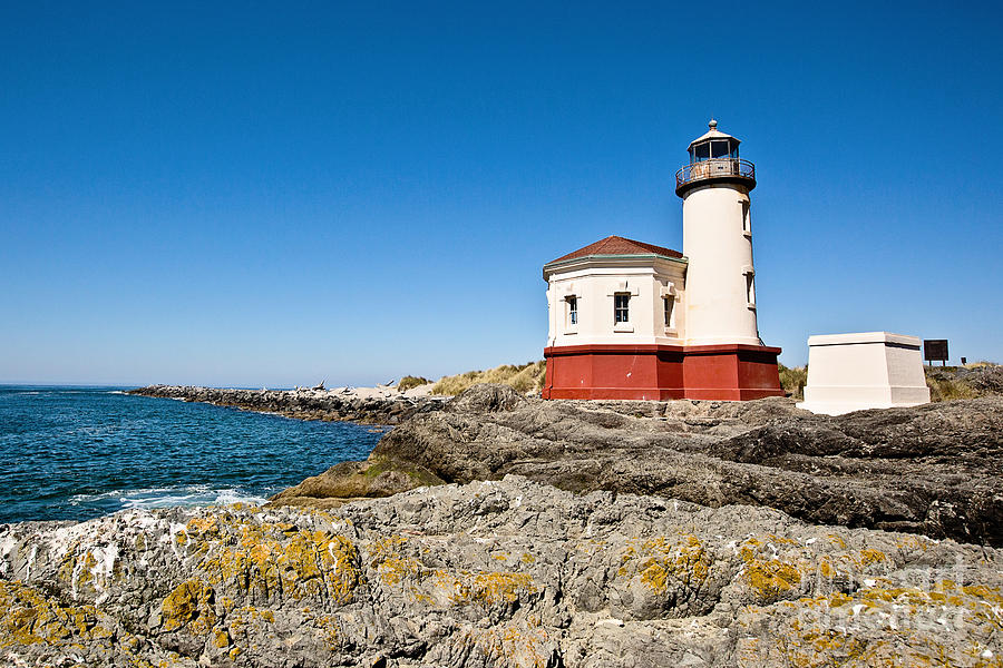 Coquille River Lighthouse Photograph - Coquille River Lighthouse by Scott Pellegrin