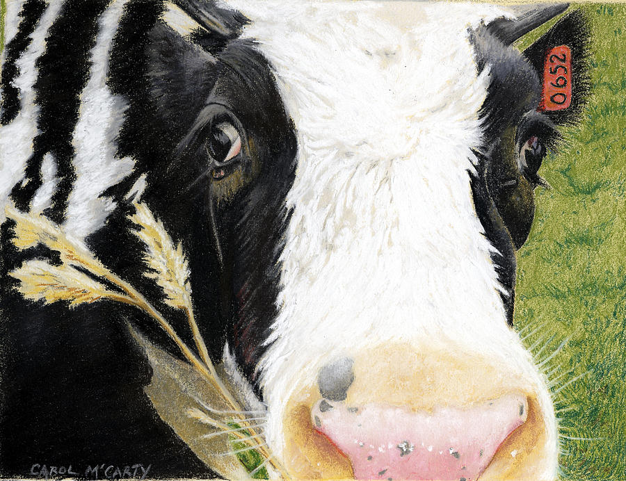 Kitchen Painting - Cow No. 0652 by Carol McCarty