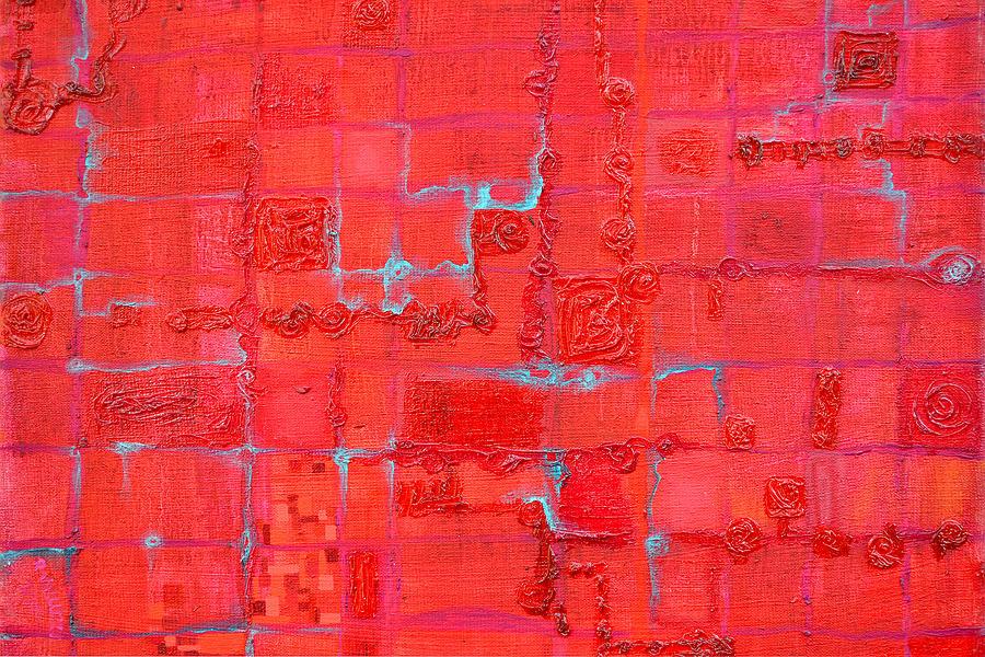 Red Painting - Crimson Query by Regina Valluzzi