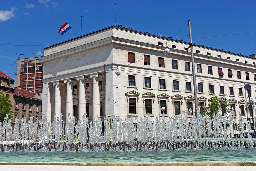 Bank Photograph - Croatian National Bank Zagreb by Borislav Marinic