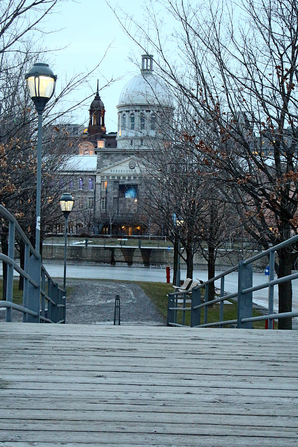 Old Montreal Photograph - Crossing Over by Munir Alawi