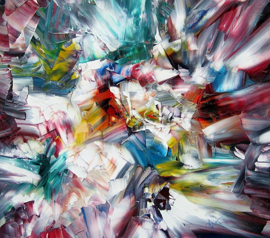 Crystal Layers Painting by Kathy Sheeran
