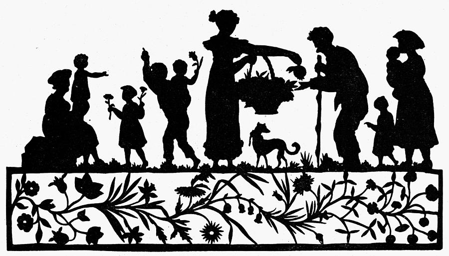 19th Century Drawing - Cut-paper Silhouette by Granger