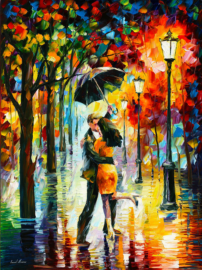 Dance Painting - Dance Under The Rain by Leonid Afremov