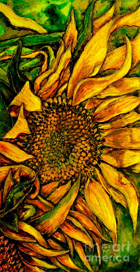 Sunflower Pastel - Dancing In The Sun by Linda Simon