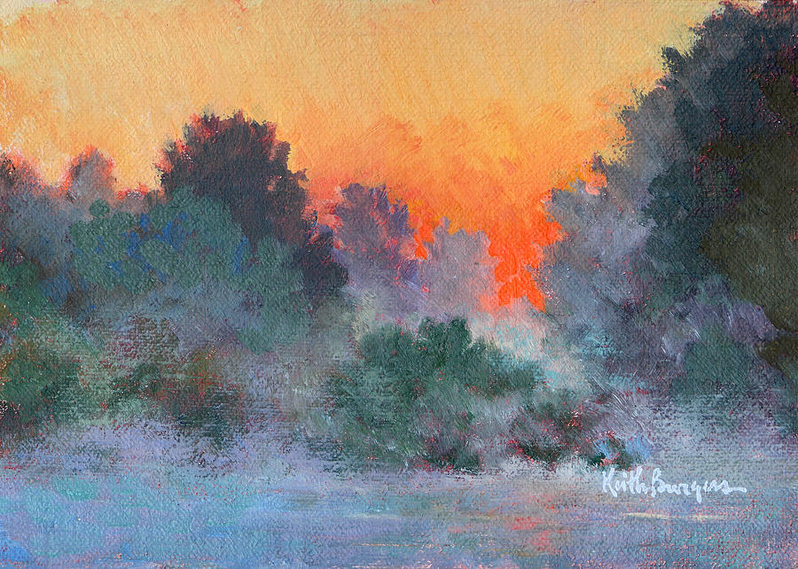 Impressionism Painting - Dawn Mist by Keith Burgess