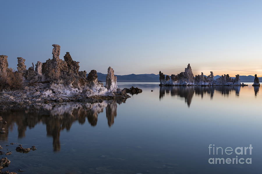Waterscape Photograph - Dawn On Mono Lake by Sandra Bronstein