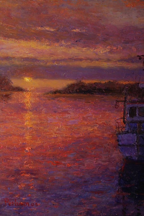 Sunrise Painting - Daybreak Riverton by Terry Perham