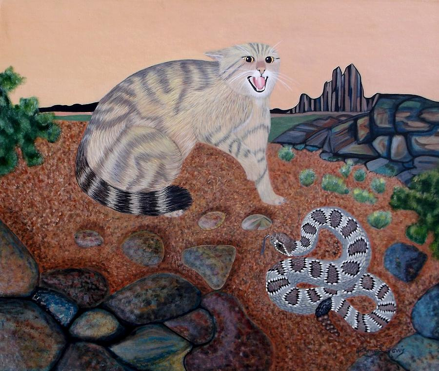 Wild Cat Painting - Dead End by Anthony Morris