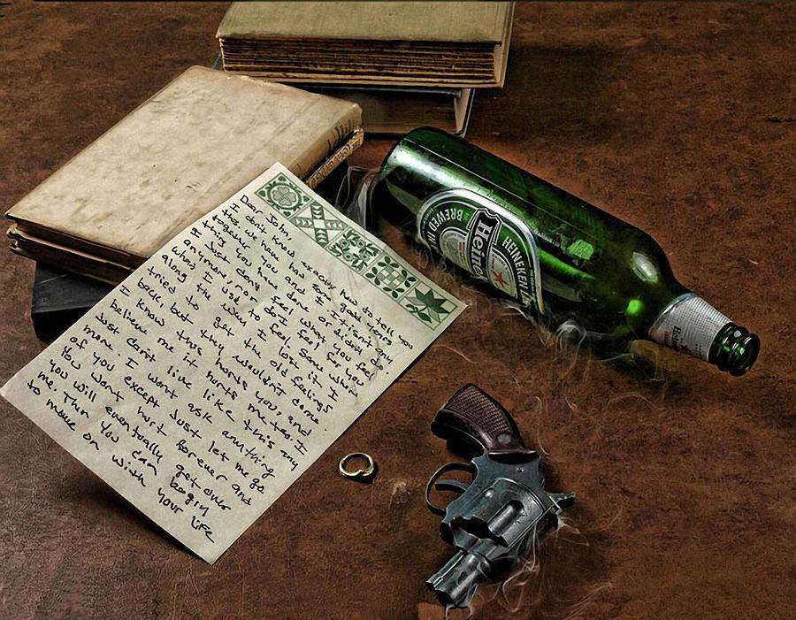 Gun Photograph - Dear John by Camille Lopez
