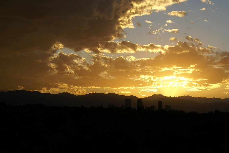 Sunset Photograph - Denver Sunset  I by Jacqueline Russell