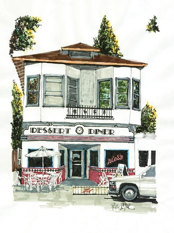 Sacramento Painting - Dessert Diner by Paul Guyer