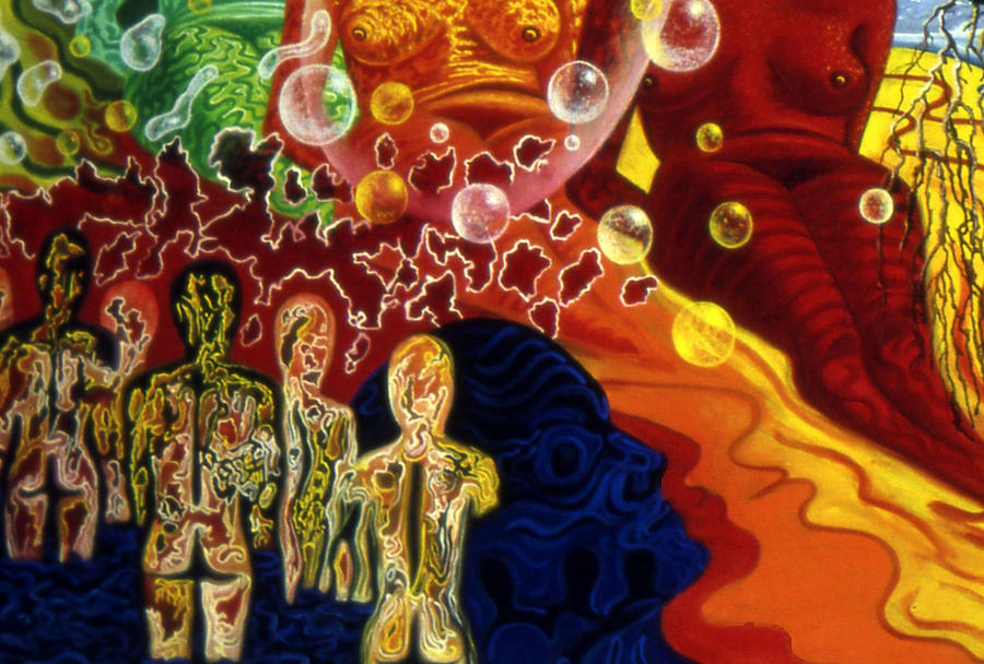 Genio Mixed Media - Detail From - The Dreamers Night by Genio GgXpress