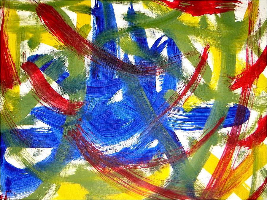 Abstract Mixed Media - Determination by Luz Elena Aponte