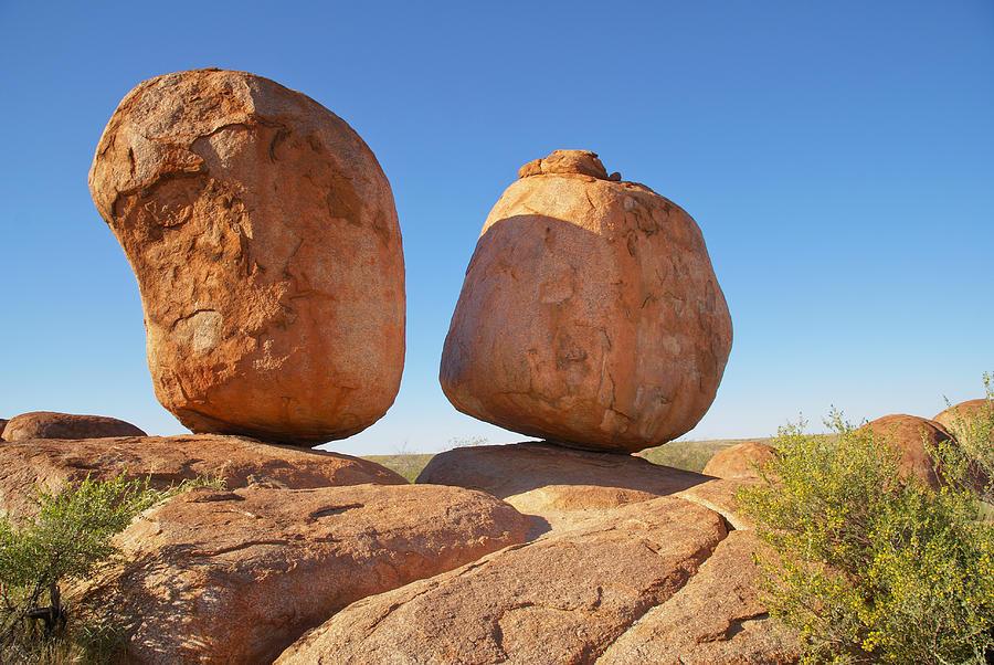 Australia Digital Art - Devils Marbles  Karlu Karlu by Carol Ailles