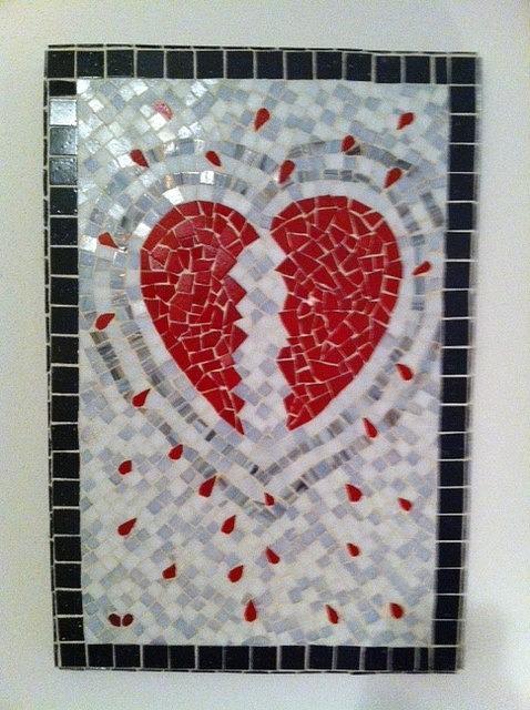 Glass Digital Art - Dexters Heart by Eileen Turpin