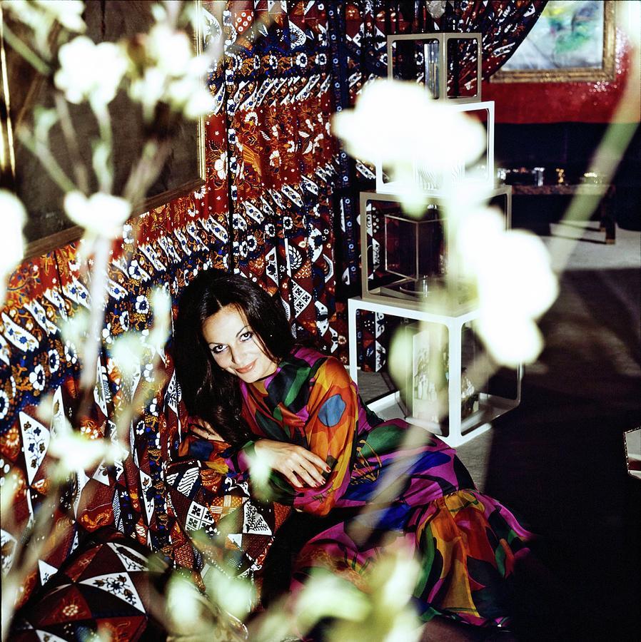 Diane Von Furstenberg At Home Photograph by Horst P. Horst
