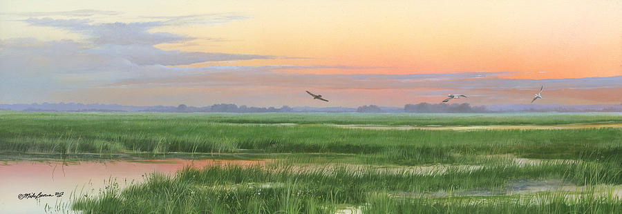 Marsh Painting - Divine Whisper by Mike Brown