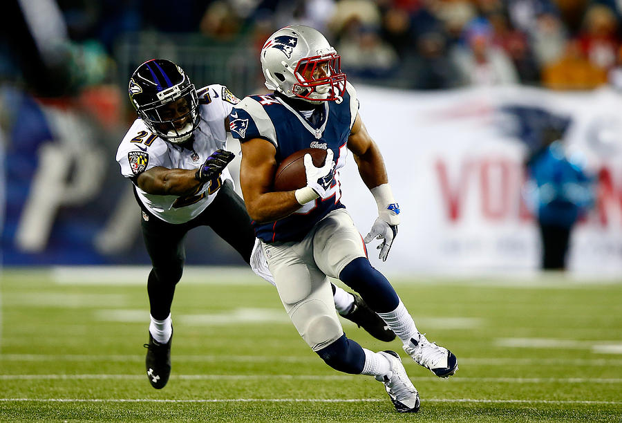 Divisional Playoffs - Baltimore Ravens v New England Patriots Photograph by Jared Wickerham