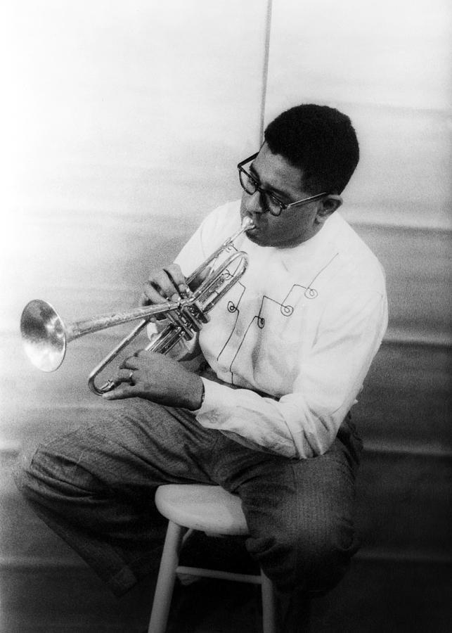 1955 Photograph - Dizzy Gillespie (1917-1993) by Granger